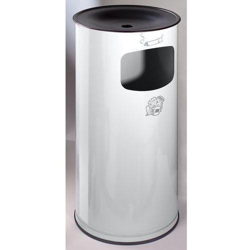Var fahrzeug- und apparatebau Bezpieczna popielniczka combi, blacha stalowa, wys. 710 mm, miejsce na odpady: 4