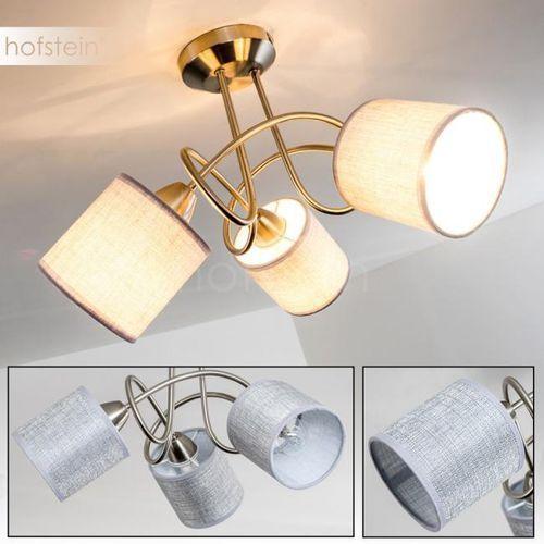 Hofstein Stai lampa sufitowa nikiel matowy, 3-punktowe - nowoczesny - obszar wewnętrzny - deckenleuchte - czas dostawy: od 4-8 dni roboczych (9007371342396)