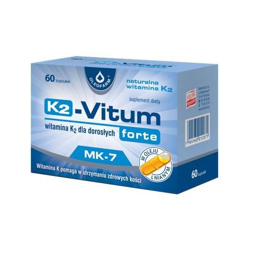 K-2 Vitum Forte (Witamina K2 MK-7 75µg) 60 kaps., postać leku: kapsułki
