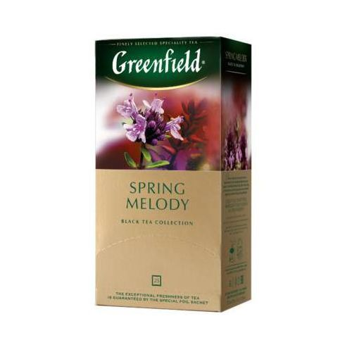 GREENFIELD 25x1,5g Spring Melody Herbata czarna Ekspresowa