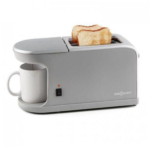 Quickie 2-w-1 Toster dwukomorowy Miniekspres do kawy z filiżanką
