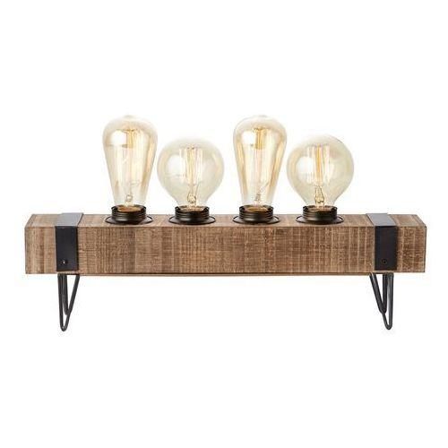 Brilliant Woodhill-lampa stojąca 4-punktowa metal i drewno dł.46cm (4004353327056)