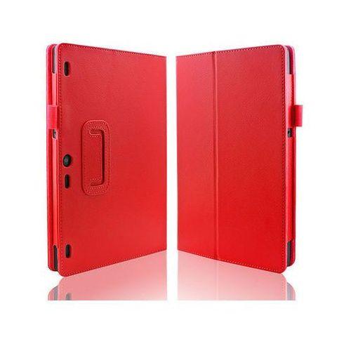 4kom.pl Czerwone etui typu stand cover lenovo tab 2 a10-30 + szkło hartowane - czerwony