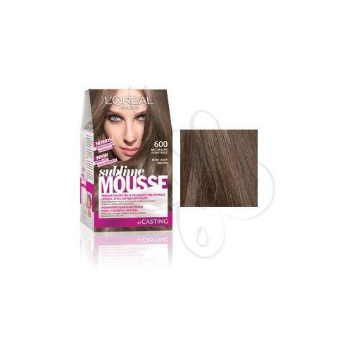 Sublime Mousse Farba do włosów nr 600 Naturalny Jasny Brąz, L'Oreal Paris