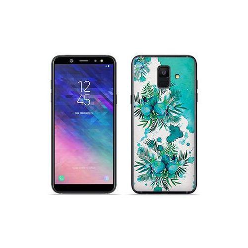 Samsung Galaxy A6 (2018) - etui na telefon Fantastic Case - turkusowa orchidea, kolor niebieski