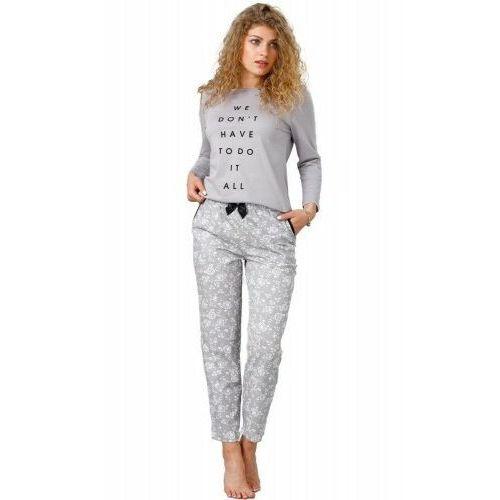 Bawełniana piżama damska 943 oria szara marki M-max