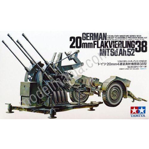 Tamiya Niemieckie holowane działo przeciwlotnicze flakvierling 38 20mm 35091