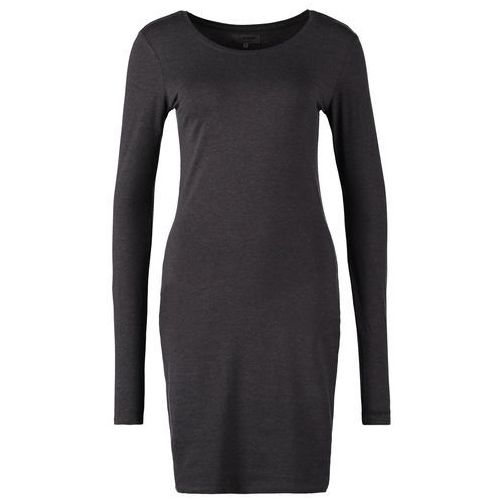 Zalando Essentials Sukienka z d�erseju dark grey melange