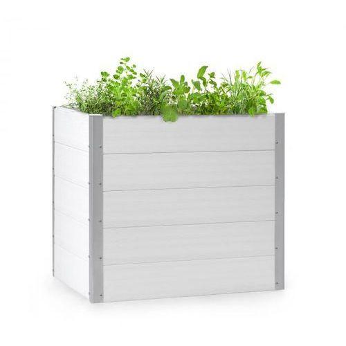 Blumfeldt nova grow, podniesiona grządka, 100 x 91 x 100 cm, wpc, imitacja drewna, biała (4060656226465)