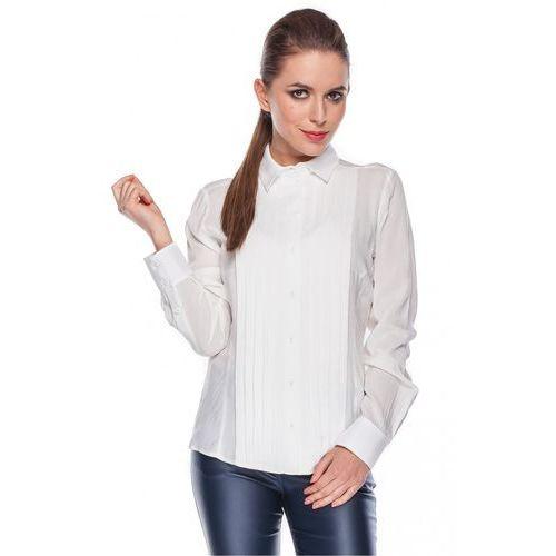 Klasyczna koszula z pionowymi zakładkami - marki Duet woman