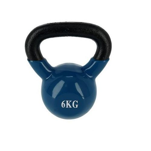 Hms Kettlebell żeliwny pokryty winylem knl6 6 kg - 6 kg (5907695534146)