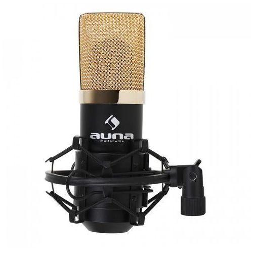 Mic-900bg usb mikrofon pojemnościowy czarny/złoty marki Auna