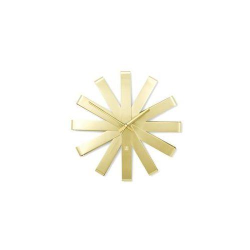 Zegar ścienny, złoty RIBBON (2200000125279)
