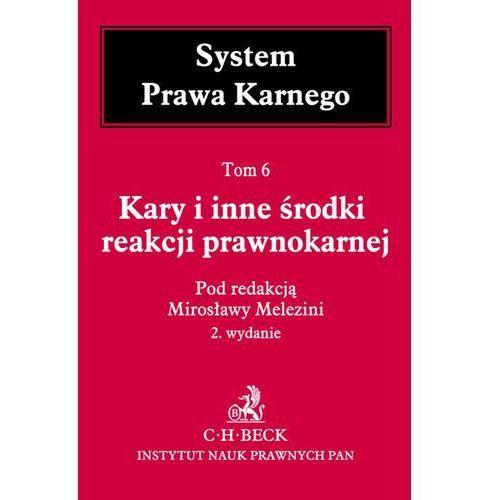 Kary i inne środki reakcji prawnokarnej System Prawa Karnego Tom 6 - Mirosława Melezini (1400 str.)