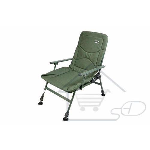 Krzesło wędkarskie turystyczne - Krzesełko z podłokietnikami, zielone, kempingowe