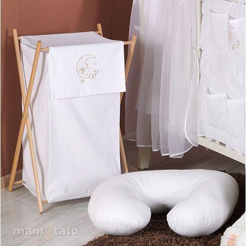 Mamo-tato kosz na bieliznę miś na księżycu w bieli