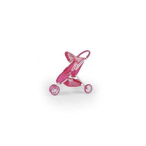 WÓZEK DLA LALEK ZUZIA RÓŻOWY Z BRĄZEM #B1 - produkt z kategorii- wózki dla lalek