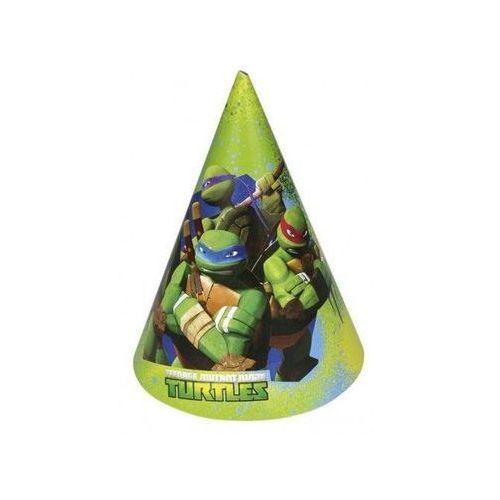 Amscan Czapeczki urodzinowe wojownicze żółwie ninja - 16,5 cm - 6 szt.