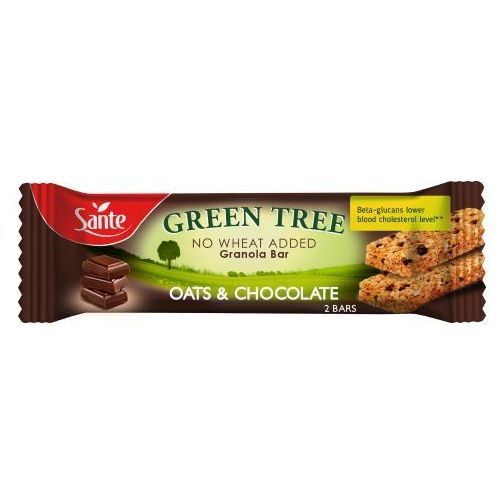 Baton granola Green Tree z czekoladą 40g Sante (5900617033840)