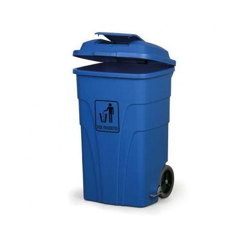 Kosz uniwersalny z pedałem 120 litrów, niebieski marki B2b partner