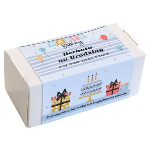 Box z herbatą na urodziny – 20 wyjątkowych herbat sypanych jako prezent urodzinowy - 19x5g + 8g
