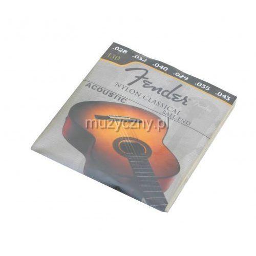 Fender 130 struny do gitary klasycznej
