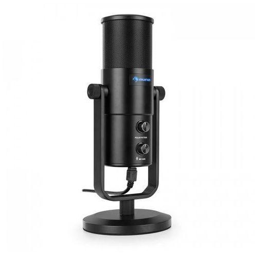 Auna Studio m usb mikrofon pojemnościowy wielkomembranowy statyw stołowy