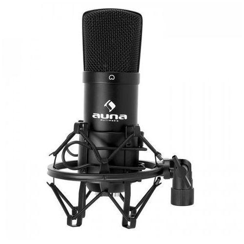 Cm001b studyjny mikrofon pojemnościowy xlr czarny marki Auna