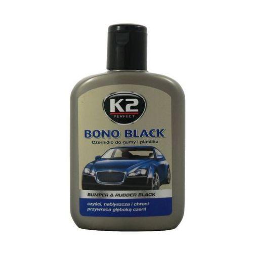 Czernidło do gumy i plastiku BONO BLACK K2 200 ml K2K030 BUMPER & RUBBER BLACK czyści, nabłyszcza i chroni przywraca głęboką czerń (5906534000941)