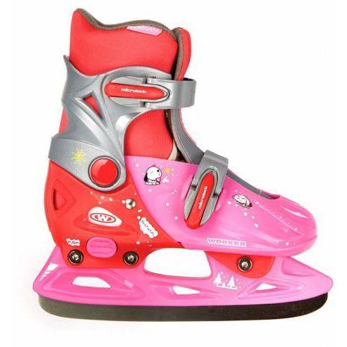 Dziecięce łyżwy WORKER Kelly kolor różowo-czerwony, rozmiar S(33-36) - oferta [a5c0457e77e5e5e1]