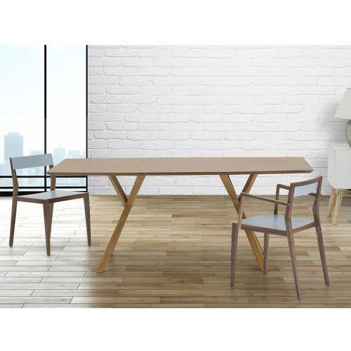 Stół do jadalni, kuchni, salonu - 180 cm - sosna - LISALA, Beliani