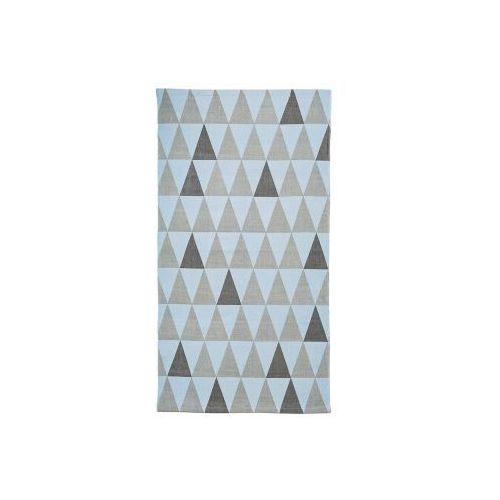 Dywanik wzór trójkąty, szaro-niebieski 60 x 120cm Bloomingville - oferta [0554602bc535f458]