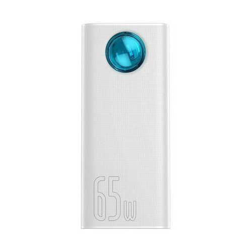 Baseus ambilight 65w   power bank 30000mah 5x usb power delivery quick charge 3.0 4.0 huawei super charge 5a - biały