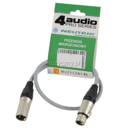 mic pro 0,5m grey przewód mikrofonowy xlr-f - xlr-m (szary) neutrik marki 4audio