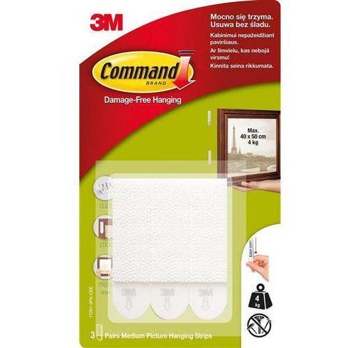 Rzepy Command (17201 PL), do wieszania obrazów, duże, 3 szt., białe, 3M-UU007832122