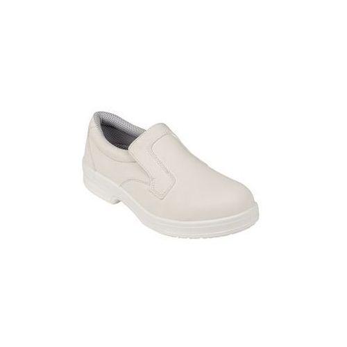 Buty ochronne unisex typu Slip On   białe   rozmiary 37-47