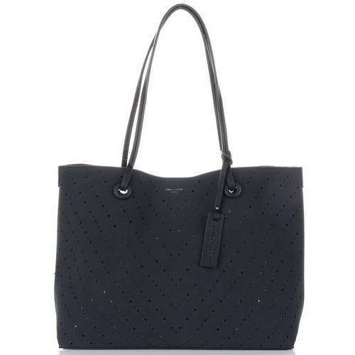 5fd2a930afb07 David jones Uniwersalne ażurowe torebki damskie z kosmetyczką czarne  (kolory) 135,00 zł Ażurowa torebka żeńska jako codzienny koniecznik powinna  być ...