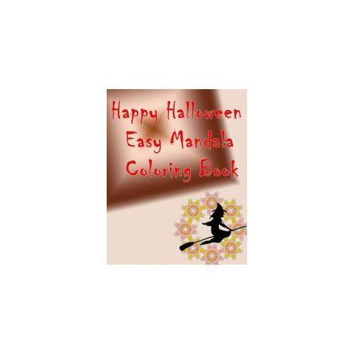 Happy Halloween Easy Mandala Coloring Book