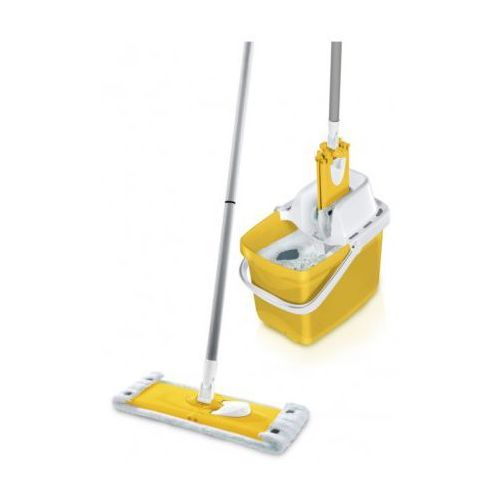 Zestaw mop + wiadro z sitem Combi Clean M w kolorze żółtym , Leifheit
