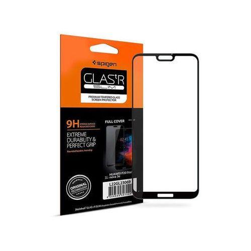 Spigen Glas.tR Slim szkło do etui Huawei P20 Lite czarne, kolor czarny