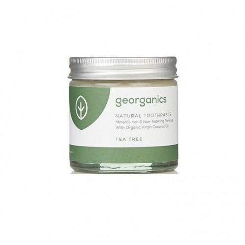 Georganics mineralna pasta do zębów w słoiku z kojącym olejem herbacianym tea tree 60ml (5060480200128)