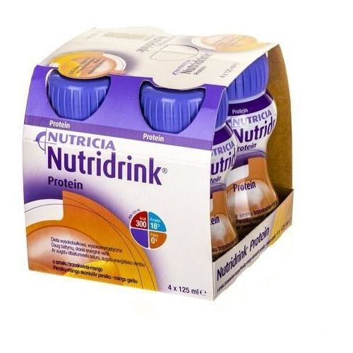 Nutridrink protein brzoskwinia-mango 4 x 125ml marki Nutricia polska