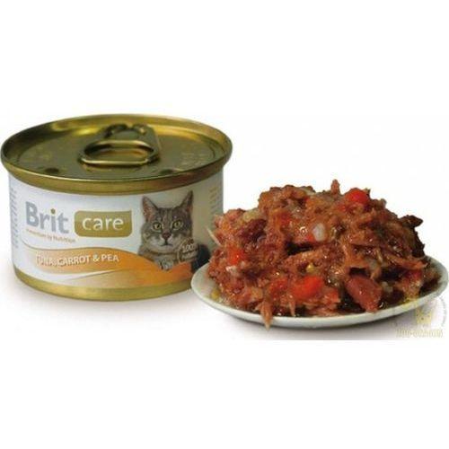 Brit Tuna, Carrot & Pea Tuńczyk, marchewka z groszkiem w postaci konserwy dla kota 80g (8594031443049)