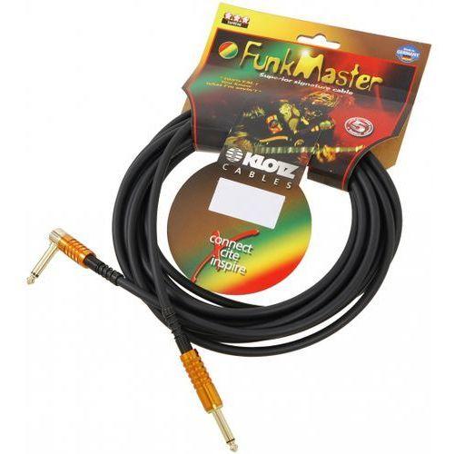 Klotz TM-R0900 Funk Master kabel gitarowy 9m, jack-jack kątowy, pozłacane wtyki