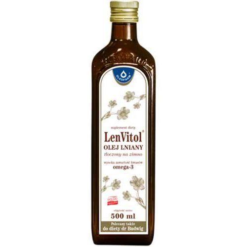 Oleofarm Lenvitol - olej lniany tłoczony na zimno - 500 ml