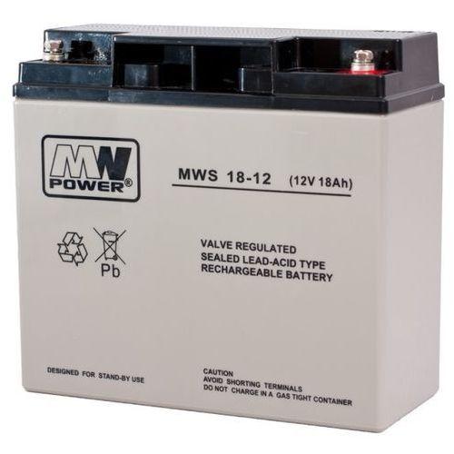 Akumulator agm żelowy mwp mws 18-12 (12v 18ah) marki Mw power