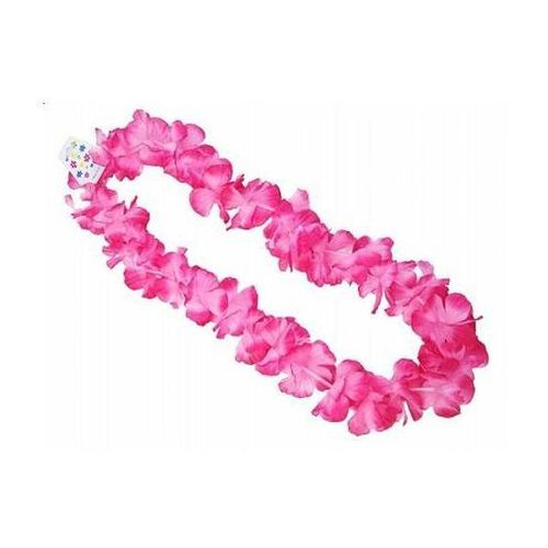 Naszyjnik hawajski - różowy - 1 m - 1 szt. marki Party deco