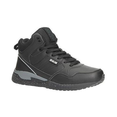 Big star Czarne buty sportowe sneakersy ocieplane sznurowane bb274639