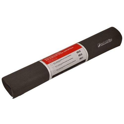Insportline Uniwersalna mata ochronna pod sprzęt amortyzująca 190 x 90 x 0,6 cm - kolor czarny (8596084010377)