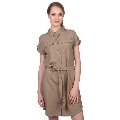 Brave Soul sukienka damska Allen M khaki, kolor brązowy